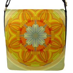 Sunshine Sunny Sun Abstract Yellow Flap Messenger Bag (s) by Nexatart