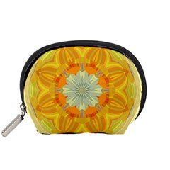 Sunshine Sunny Sun Abstract Yellow Accessory Pouches (small)  by Nexatart