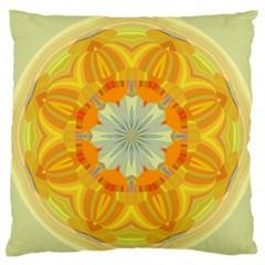 Sunshine Sunny Sun Abstract Yellow Standard Flano Cushion Case (two Sides) by Nexatart