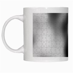Puzzle Grey Puzzle Piece Drawing White Mugs by Nexatart