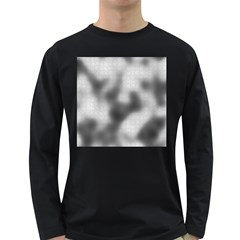 Puzzle Grey Puzzle Piece Drawing Long Sleeve Dark T Shirts