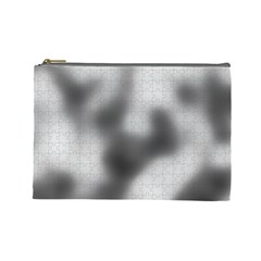 Puzzle Grey Puzzle Piece Drawing Cosmetic Bag (large)