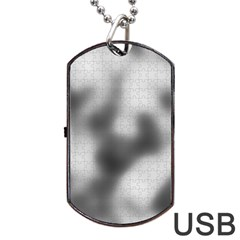 Puzzle Grey Puzzle Piece Drawing Dog Tag Usb Flash (two Sides)