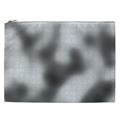 Puzzle Grey Puzzle Piece Drawing Cosmetic Bag (xxl)  by Nexatart