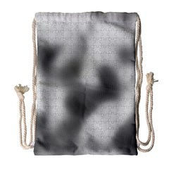 Puzzle Grey Puzzle Piece Drawing Drawstring Bag (large) by Nexatart