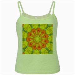 Sunshine Sunny Sun Abstract Yellow Green Spaghetti Tank