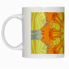 Sunshine Sunny Sun Abstract Yellow White Mugs by Nexatart