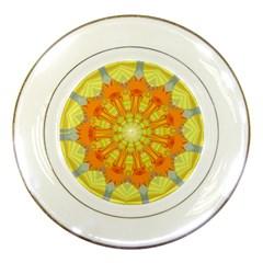 Sunshine Sunny Sun Abstract Yellow Porcelain Plates by Nexatart