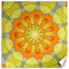 Sunshine Sunny Sun Abstract Yellow Canvas 16  X 16   by Nexatart