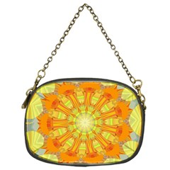 Sunshine Sunny Sun Abstract Yellow Chain Purses (one Side)  by Nexatart
