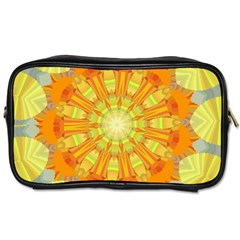 Sunshine Sunny Sun Abstract Yellow Toiletries Bags by Nexatart