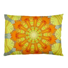 Sunshine Sunny Sun Abstract Yellow Pillow Case (two Sides)