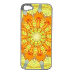 Sunshine Sunny Sun Abstract Yellow Apple Iphone 5 Case (silver) by Nexatart
