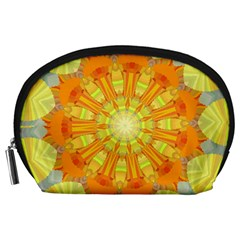 Sunshine Sunny Sun Abstract Yellow Accessory Pouches (large)