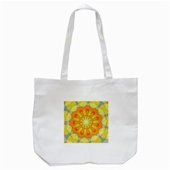 Sunshine Sunny Sun Abstract Yellow Tote Bag (white) by Nexatart