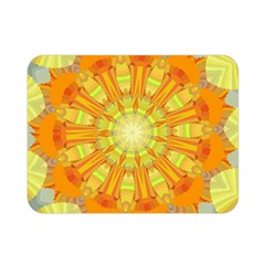 Sunshine Sunny Sun Abstract Yellow Double Sided Flano Blanket (mini)