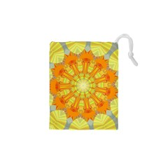 Sunshine Sunny Sun Abstract Yellow Drawstring Pouches (xs)