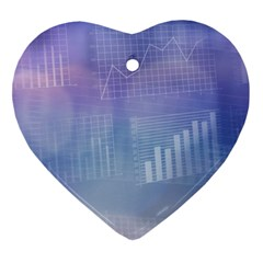 Business Background Blue Corporate Ornament (heart) by Nexatart