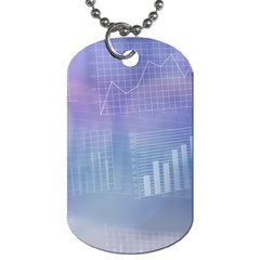 Business Background Blue Corporate Dog Tag (one Side) by Nexatart