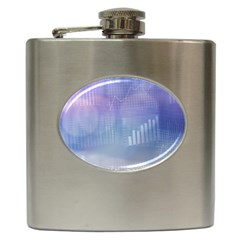 Business Background Blue Corporate Hip Flask (6 Oz) by Nexatart