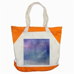 Business Background Blue Corporate Accent Tote Bag by Nexatart