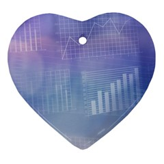 Business Background Blue Corporate Heart Ornament (two Sides) by Nexatart