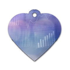 Business Background Blue Corporate Dog Tag Heart (one Side) by Nexatart