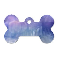 Business Background Blue Corporate Dog Tag Bone (one Side) by Nexatart