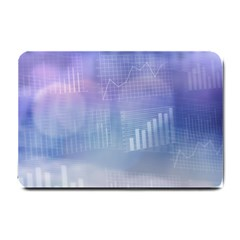 Business Background Blue Corporate Small Doormat  by Nexatart