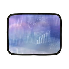 Business Background Blue Corporate Netbook Case (small)  by Nexatart