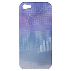 Business Background Blue Corporate Apple Iphone 5 Hardshell Case