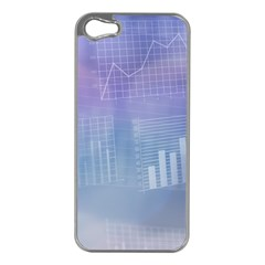 Business Background Blue Corporate Apple Iphone 5 Case (silver) by Nexatart