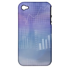 Business Background Blue Corporate Apple Iphone 4/4s Hardshell Case (pc+silicone)