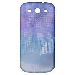 Business Background Blue Corporate Samsung Galaxy S3 S Iii Classic Hardshell Back Case by Nexatart