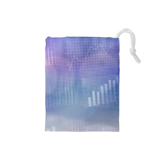 Business Background Blue Corporate Drawstring Pouches (small)