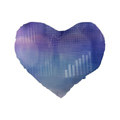 Business Background Blue Corporate Standard 16  Premium Flano Heart Shape Cushions by Nexatart