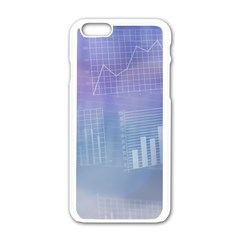 Business Background Blue Corporate Apple Iphone 6/6s White Enamel Case by Nexatart