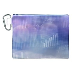 Business Background Blue Corporate Canvas Cosmetic Bag (xxl) by Nexatart