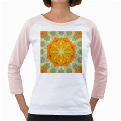 Sunshine Sunny Sun Abstract Yellow Girly Raglans