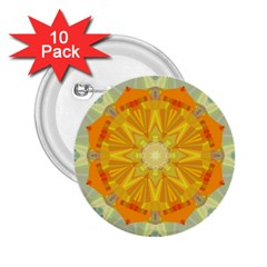 Sunshine Sunny Sun Abstract Yellow 2 25  Buttons (10 Pack)  by Nexatart