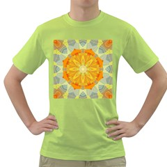 Sunshine Sunny Sun Abstract Yellow Green T Shirt