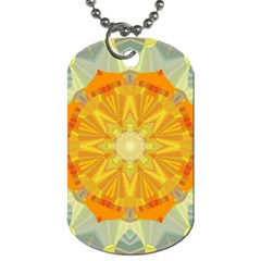 Sunshine Sunny Sun Abstract Yellow Dog Tag (two Sides)