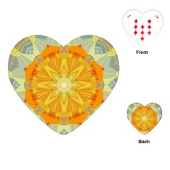Sunshine Sunny Sun Abstract Yellow Playing Cards (heart)