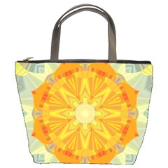 Sunshine Sunny Sun Abstract Yellow Bucket Bags