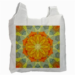 Sunshine Sunny Sun Abstract Yellow Recycle Bag (two Side)  by Nexatart