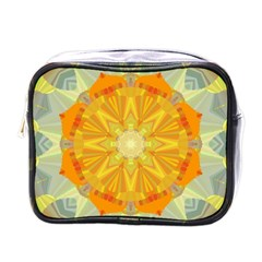 Sunshine Sunny Sun Abstract Yellow Mini Toiletries Bags