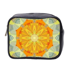 Sunshine Sunny Sun Abstract Yellow Mini Toiletries Bag 2 Side by Nexatart