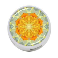 Sunshine Sunny Sun Abstract Yellow 4 Port Usb Hub (two Sides)  by Nexatart