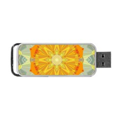 Sunshine Sunny Sun Abstract Yellow Portable Usb Flash (two Sides)