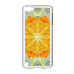 Sunshine Sunny Sun Abstract Yellow Apple Ipod Touch 5 Case (white)